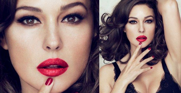 Monica Bellucci testimonial D&G rossetto red 620