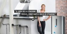 Veronica Ferraro per Panasonic: The Fashion Fruit fa pubblicità a un frigorifero