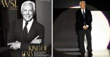Giorgio Armani in copertina per The Wall Street Journal
