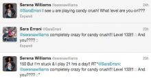 Candy Crush Saga: Williams ed Errani si sfidano a colpi di Tweet