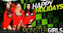 Monster Girls, un 2015 sexy per i bikers di tutto il mondo: gli auguri hot di buone feste, le foto