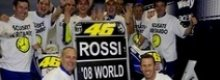 Valentino Rossi si laurea Campione del Mondo 2008