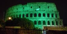 Global Greening 2015, tra i monumenti illuminati di verde anche il Colosseo: foto