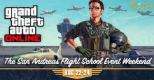 GTA 5 Online: soldi e RP doppi dal 22 al 24 agosto per il San Andreas Flight School Event Week End