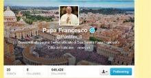 Papa Francesco da record su Twitter: 6 milioni di follower