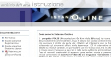 Istanze online: homepage, login e registrazione