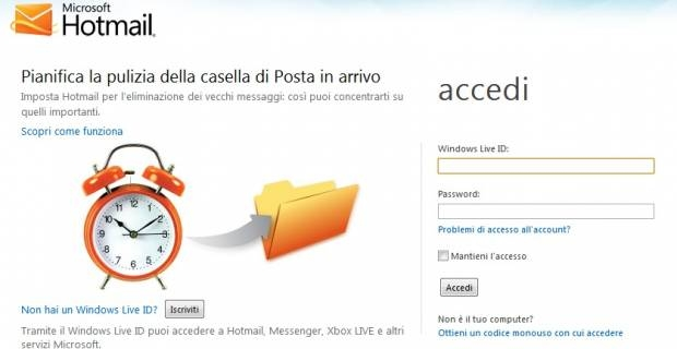 www.hotmail.it posta in arrivo