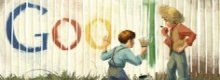 Mark Twain e Tom Sawyer nel logo Google